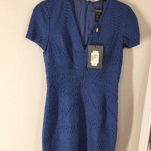 ZACPOSEN Blue Midi Dress